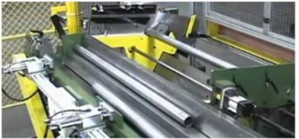 Máquina para medición de longitud de tubos